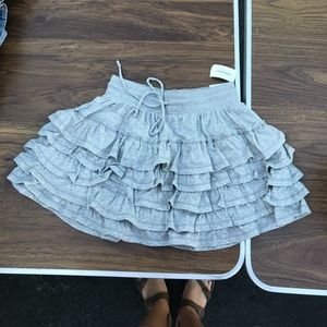 Gray Ruffle Skirt